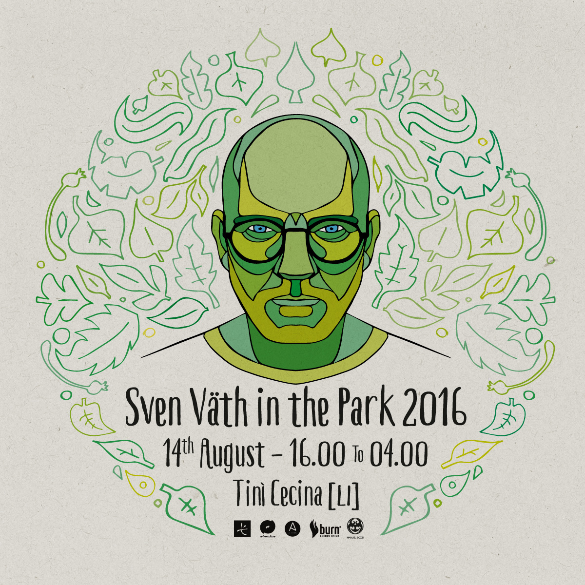 Sven Vath in the park 2016 - flyer
