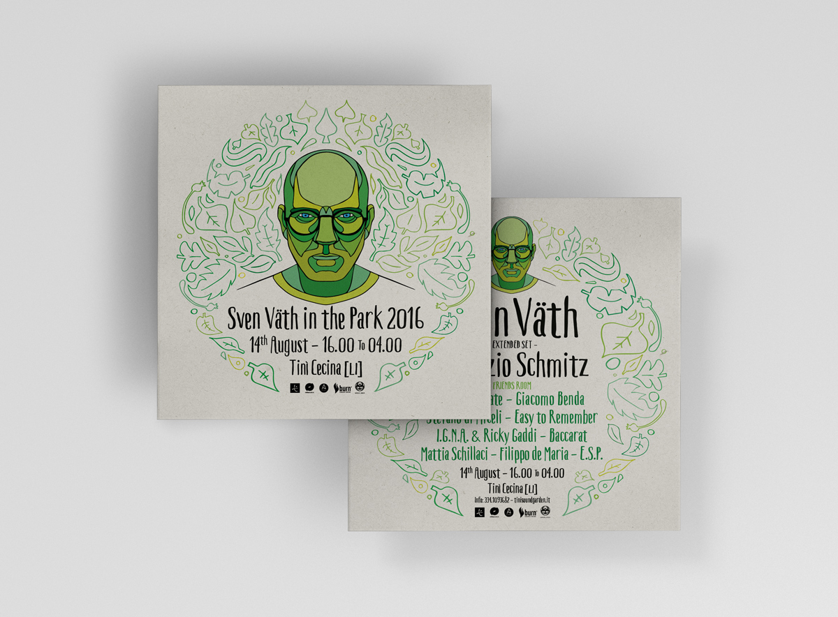 Sven Vath in the park 2016 - flyers