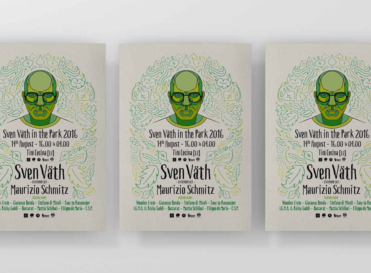 Sven Vath in the park 2016 - posters